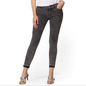 NYCO Mid-Rise Super-Skinny Ankle Jeans
